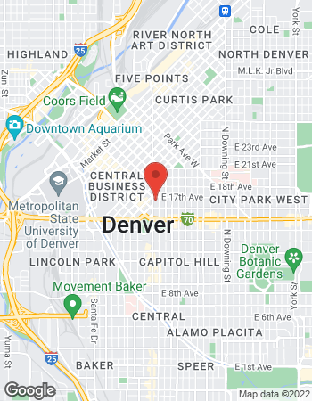 Map of Jeffrey Metcalfe - TIAA Financial Consultant at 1670 Broadway, Denver, CO 80202