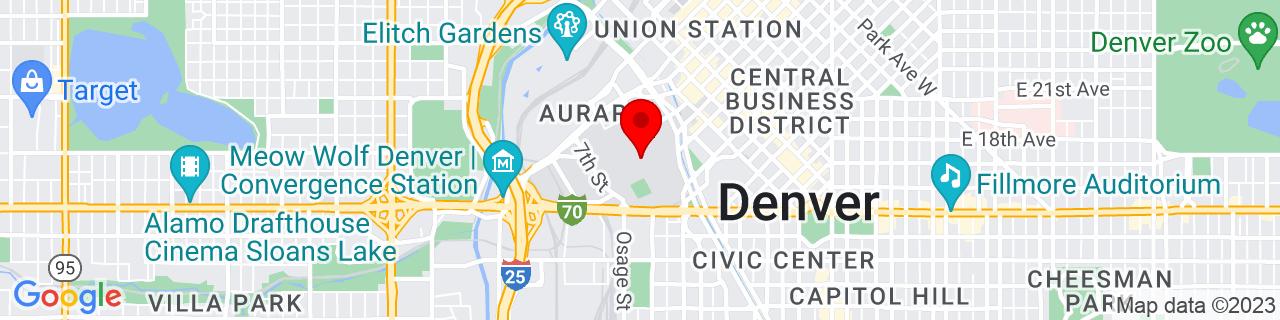 Google Map of 39.7435507, -105.0038173