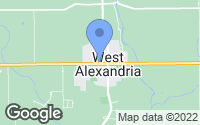 Map of West Alexandria, OH