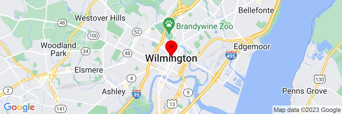 Google Map of 39.745244444444,-75.548413611111