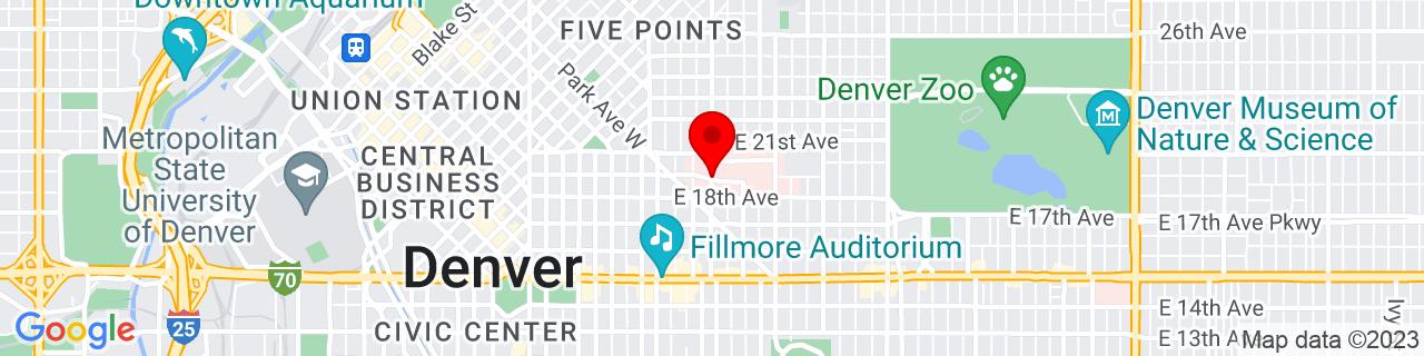 Google Map of 39.74600239999999, -104.9733424
