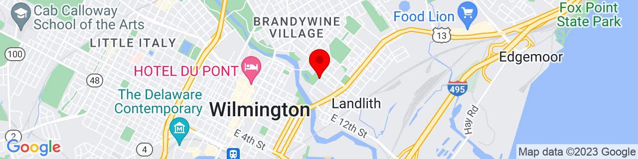Google Map of 39.7471214, -75.5360915
