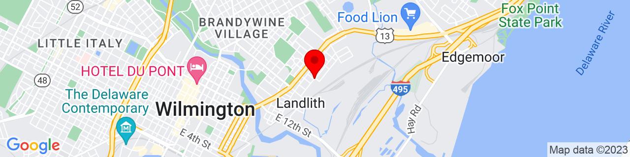 Google Map of 39.7471493, -75.5272804