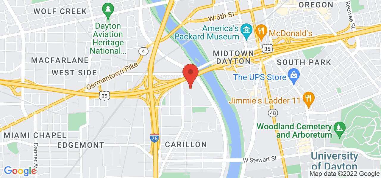 Map location for Haven Behavioral Hospital of Dayton