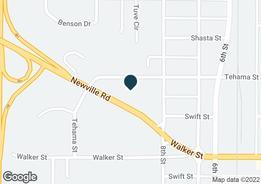 Google Map of828 NEWVILLE RD