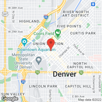 Map of Panera Bread at 1380 16th Street Mall, Denver, Colorado 80202