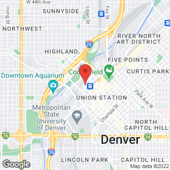 Map of Sprint at 1989 16th St., Denver, CO 80202