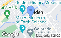 Map of Golden, CO