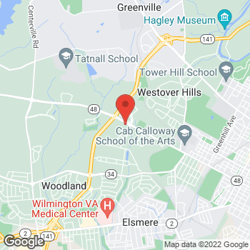 Map of BAYADA Adult Nursing at 4250 Lancaster Pike, Wilmington, DE 19805