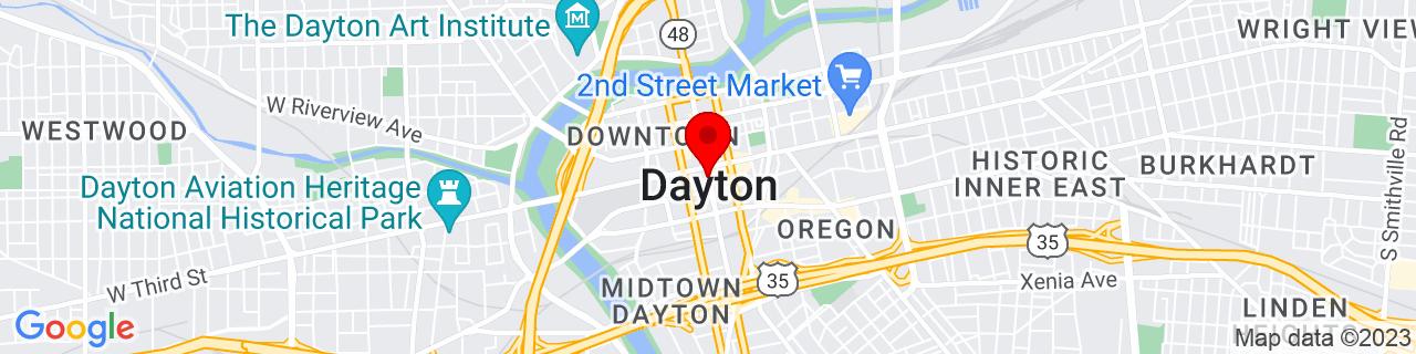 Google Map of 39.75888888888889, -84.19166666666668