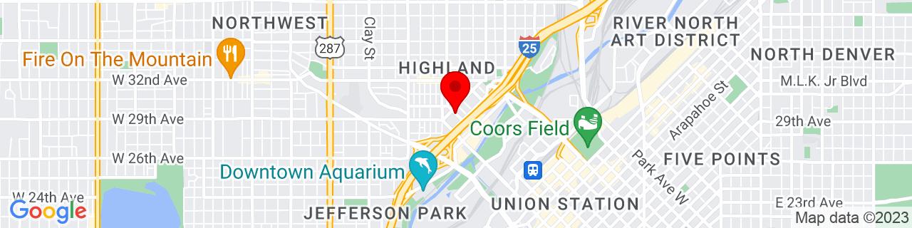 Google Map of 39.758953, -105.0101223