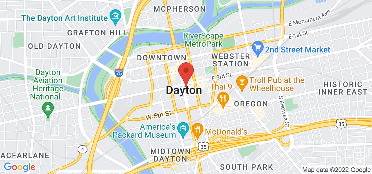 Map location for Greater Dayton Regional Transit Authority