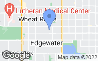 Map of Wheat Ridge, CO