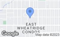 Map of Wheat Ridge, CO