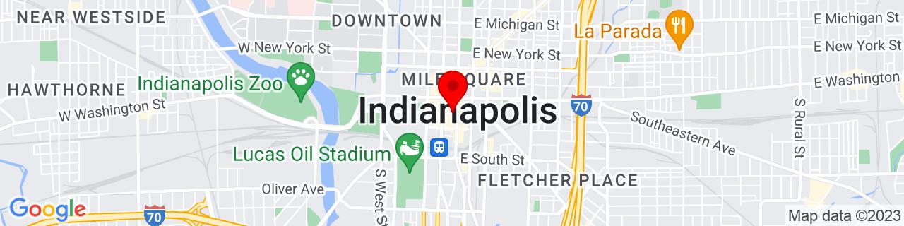 Google Map of 39.765638, -86.1586689