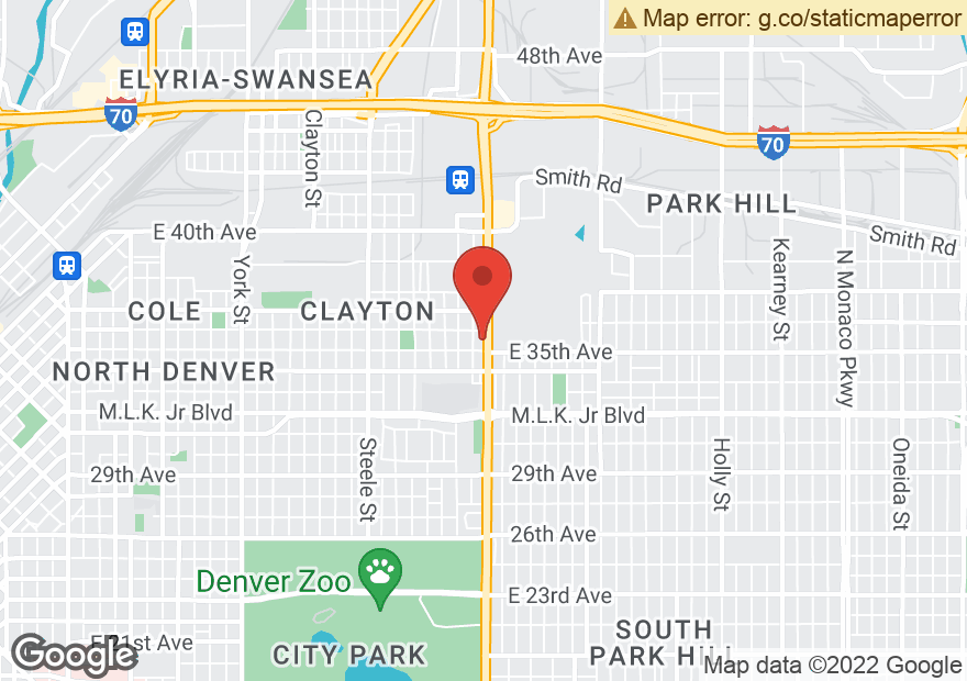 Google Map of 3555 N COLORADO BLVD