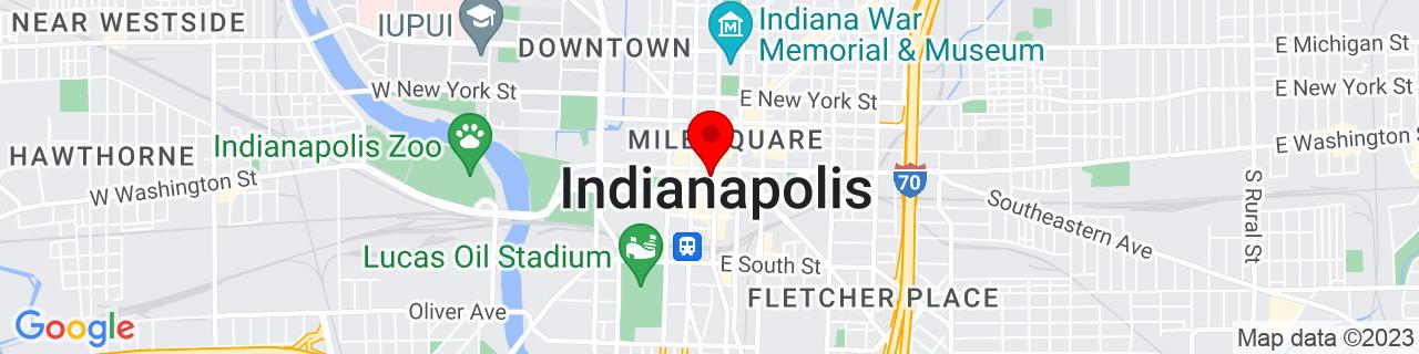 Google Map of 39.76661, -86.158508