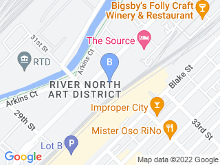 Map of City Bark Lodo Dog Boarding options in Denver | Boarding