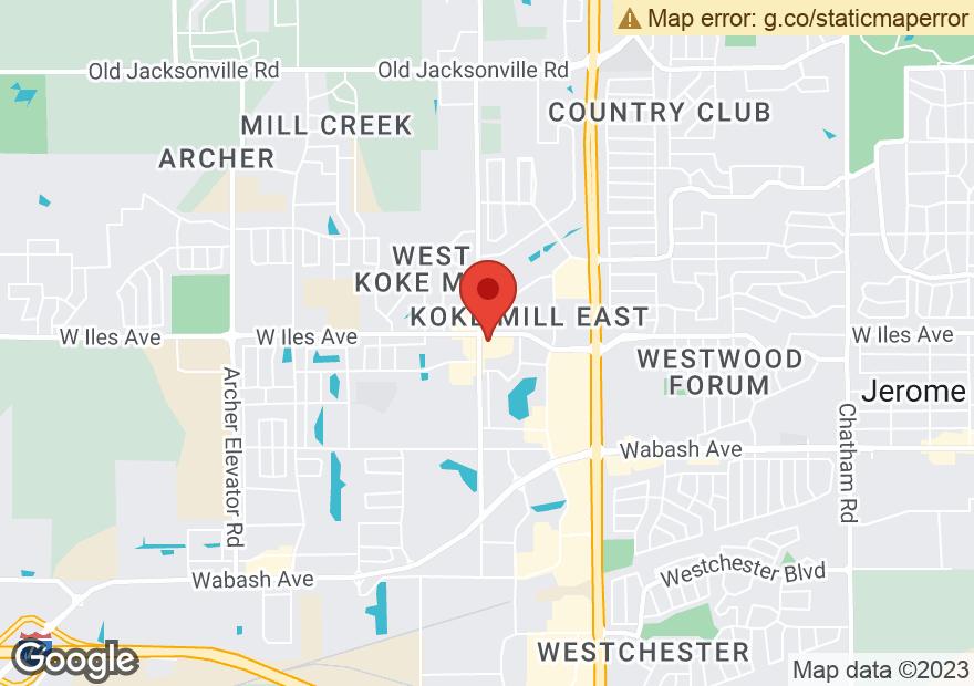 Google Map of 2500 S KOKE MILL RD