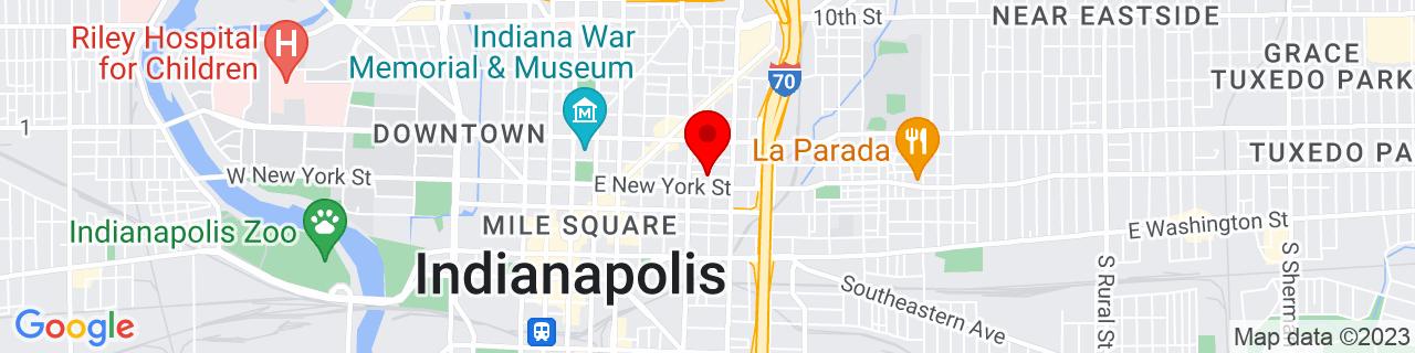 Google Map of 39.771744, -86.147363