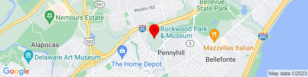 Google Map of 39.7724886, -75.5207923