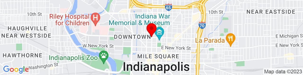Google Map of 39.7741599, -86.15978899999999