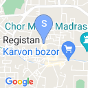 map for Trading Domes, Bukhara, Uzbekistan