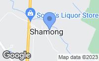 Map of Shamong, NJ