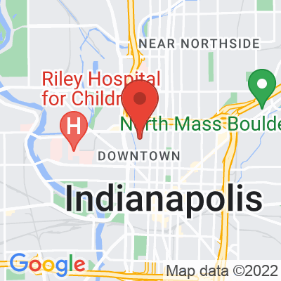 Map showing Quills Coffee (Indy)