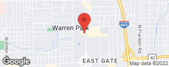 Map of 916 N Shadeland Ave in Indianapolis