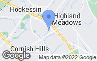 Map of Hockessin, DE