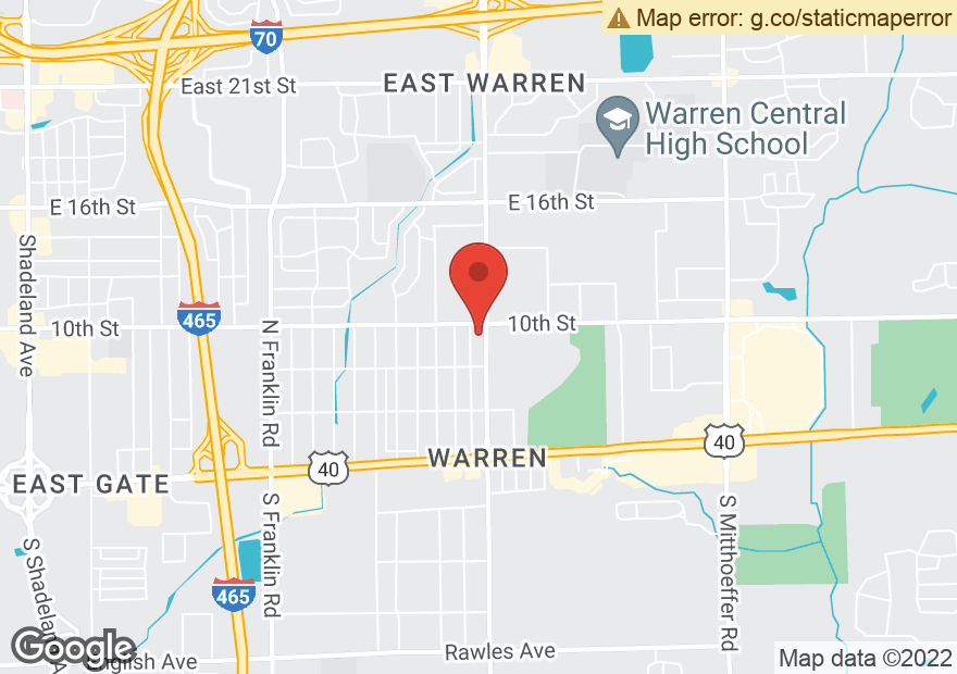 Google Map of 8905 E 10TH ST