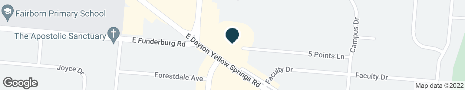 Google Map of183 E DAYTON YELLOW SPRINGS RD