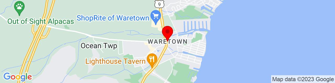 Google Map of 39.7915084, -74.1951395