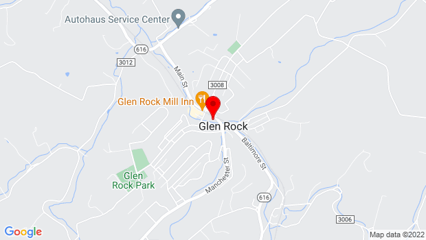 Google Map of 32 Main St, Glen Rock, PA 17327
