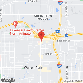 Map of Arby's at 2079 N Shadeland Ave, Indianapolis, IN 46219