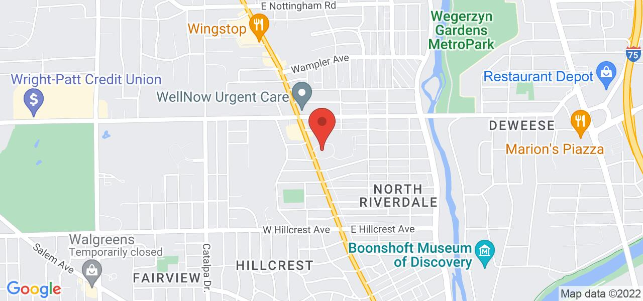 Map location for Montgomery County Children Services