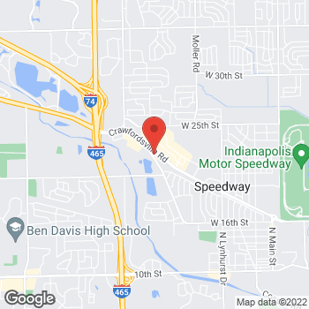 Map of Sprint at 5945 Crawfordsville Rd, Indianapolis, IN 46224