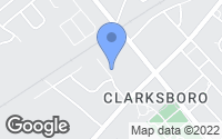 Map of Clarksboro, NJ