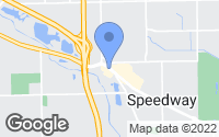 Map of Speedway, IN