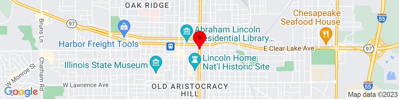 Google Map of 39.80166666666666, -89.64361111111111
