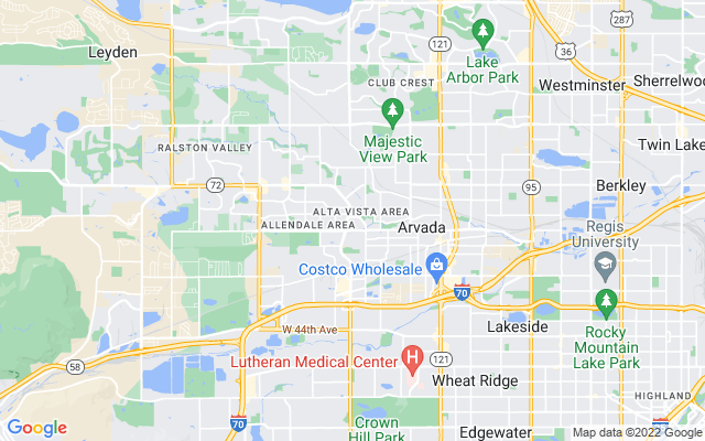 Arvada on the map