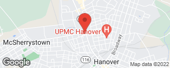 Map of 600 Carlisle St in Hanover