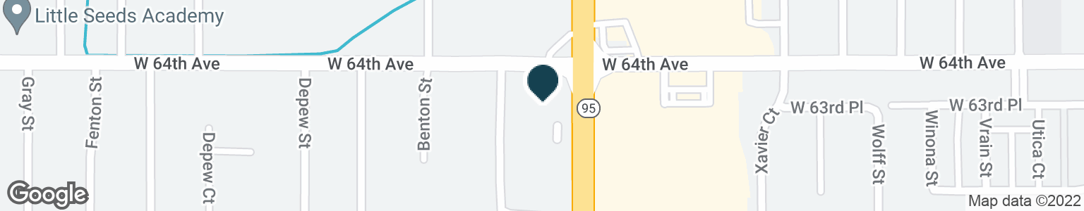 Google Map of6395 SHERIDAN BLVD
