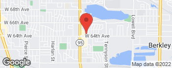 Map of 5067 W 64th Ave in Arvada
