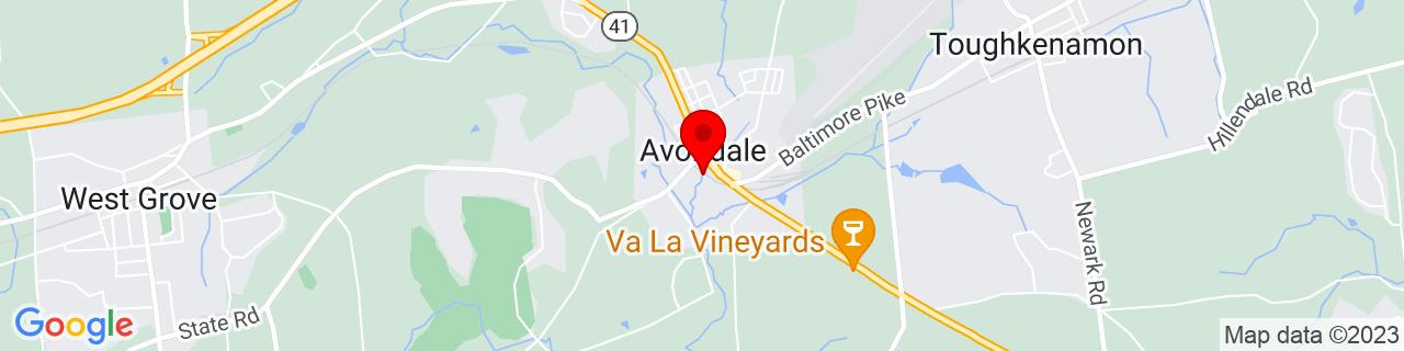 Google Map of 39.823443, -75.783273