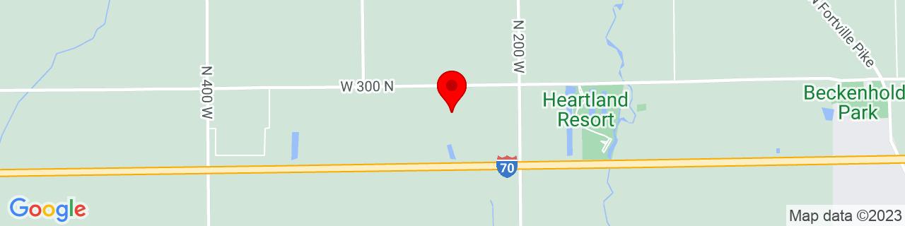 Google Map of 39.8249915, -85.84862360000001
