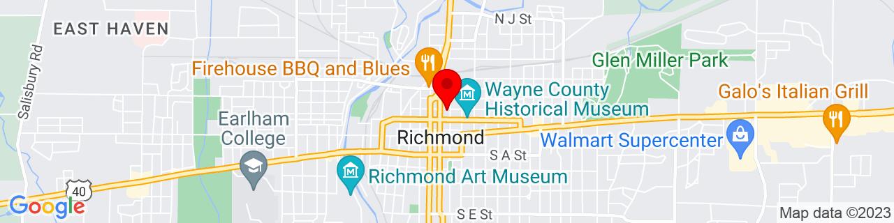 Google Map of 39.831397, -84.88948599999999