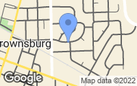 Map of Brownsburg, IN