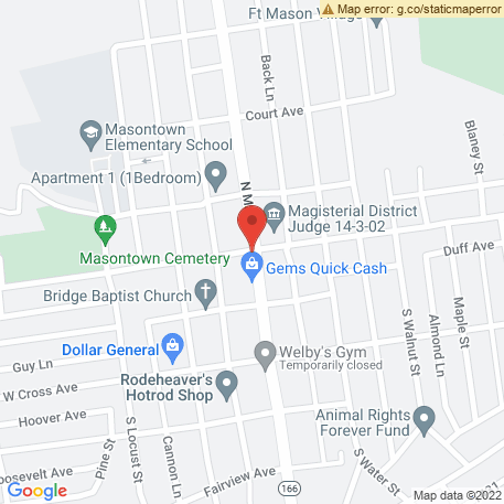 Fox Auto Parts & Service on Map (Masontown, PA 15461) Map